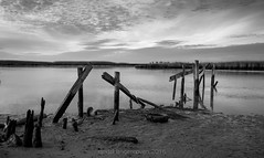 veldrif winter28 (WITHIN the FRAME Photography(5 Million views tha) Tags: river estuary abandoned decay broken reeds sunrise water bw veldrif travels southafrica wide fuji xt1