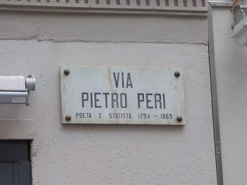 Via Pietro Peri, Lugano - road sign