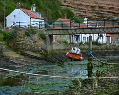 Old Rope (Nanny Bean) Tags: staithesnyorkshire ropes lowtide fishingboat fishingvillage