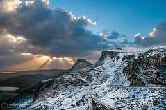 The Quiraing just after dawn (NeilAlexanderD) Tags: longexposure cloud mountain snow weather sunrise dawn rocks isleofskye cloudy snowy noone nobody nopeople highland snowfall mountainpass mountainrange mountainpeak