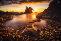 Sublimity Exposed (Augmented Reality Images (Getty Contributor)) Tags: bowfiddlerock canon dawn hdr landscape leefilters light longexposure morayshire portknockie rocks scotland seascape sunrise water waves
