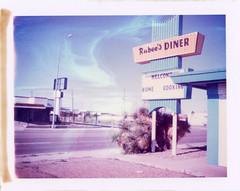 Tucumcari, NM (moominsean) Tags: polaroid 190 instant type669 expired112002 newmexico tucumcari southwest rubees diner route66