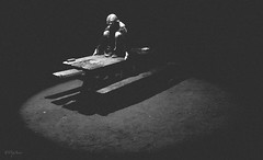 I need new sheets... (Damien Manspeaker) Tags: new sheets black white light portrait shadows dark darkness x100 film