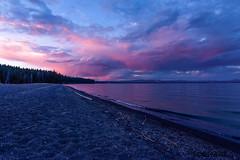 Yellowstone Lake, WY (todhare) Tags: lake yellowstone wyoming national park water clouds sunset trees nikon 5d 1424mm beauty beautiful landscape