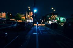 Dark Street (hidesax) Tags: darkstreet night street light biker passerby ageo saitama japan hidesax leica x vario