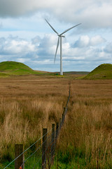 The Fence (TroonTommy) Tags: energy farm fence glasgow green landscape moorland renewable scotland turbines whitelee wind