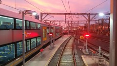 Red sky in the morning.......Train drivers warning. (TrainDriverYoda) Tags: waratah train hornsbyupyard hornsby sunrise redsky sydneytrains aset