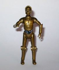 c-3PO star wars the clone wars no.16 blue and white packaging basic action figures 2008 wave 3 hasbro f (tjparkside) Tags: c3po c 3po droid droids protocol translator tcw clone wars star hasbro basic action figure figures blue white packaging card 2008 series 3 number 16 no no16 glowing eyes padme amidala rebel rebels wave