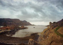 Strome Castle and Castle Bay, Loch Carron, Wester Ross (Grangefirth) Tags: ipadpro camera painterly iphone6s classictoy historicscotland castle colournegativefilm photoforge2 snapseed contemporaryartssociety highland phototoaster westerross classicsnaplens stackables grangefirth clh