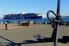 CMA CGM Zheng He (Hythe Eye) Tags: hythe hampshire southamptonwater containership docks army