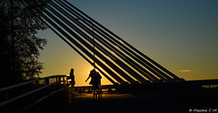Summer Sunset (Maxime C-M ) Tags: girls women suomi finland 2016 holidays sun bridge city laponie nikon d3200 july europe lapin maakunta arctic circle end day sky cache cloud three gate