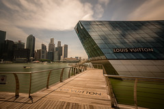 There's something alluring about this building. (jh_tan84) Tags: louisvuitton lv landscape longexposure singapore mbs marinabaysands cityscape blue water
