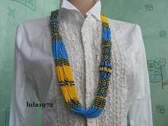 Epic Multistrand Necklace - UKRAINE (Seed Bead Necklace) Tags: gifts beadednecklace ukrainian ukrainianjewelry ukrainiannecklace etsy etsymntt jewelryonetsy necklace handmade handmadegifts holidaygift handmadejewelry jewelry handcrafted etsyshop yellowblue