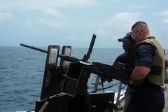 USS Mason (DDG 87) Small Arms Qualifications (NavyOutreach) Tags: ussmason ddg87 eisenhowercarrierstrikegroup ikecsg destroyersquadron26 desron26 cmdrchristopherjgilbertson proudlyweserve masscommunicationspecialist3rdclass janwebblagazo sn ship vessel destroyer us navy naval maritime marine ocean photograph military publicaffairs mason norfolk navalstationnorfolk homeport cl027 deployment greatgreenfleet ggf us5thfleet us6thfleet usnavyeurope presencematters operatingforward opfwd redsea swampfoxes hsm74 helicoptermaritimestrikesquadron mh60r seahawk operationinherentresolve arabiansea smallarmsqualifications livefireexercises gunnersmate corendemastus crewserveweapons