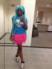 Lady Orisha: Inner Child (LadyOrisha) Tags: dokidoki ladyorisha colorful kawaii miku unicorn innerchild mikuhair africanamerican american girl scenekid blackgirlscene