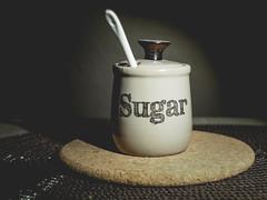 Sugar (zimoch84) Tags: sugar tone mild low contrast composition mute jar pod spoon still life stilllife