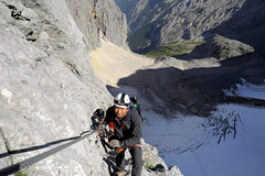 Above the Hllentalferner (decineper) Tags: mountain climbing hiking hllentalferner hollentalferner hllental hollental zugspitze glacier crevasse klettersteig viaferrata alps germany