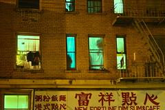 windows (trouws) Tags: san francisco california west coast city china town photography night street brick fire escape fireescape color green blue light nikon d3200 nikond3200