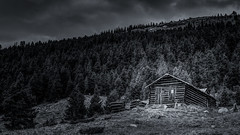 IMG_0284_5_6-Edit-Edit (larrywruth) Tags: 7d aspen blackwhite cabins canon co colorado ghosttown huts independenceghosttown independencepass landscape mono monochrome mountains old photographer photography pictures roackymountains roaringfrok tobyharriman valley