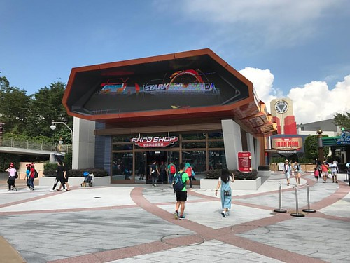 The Expo Shop is open, can't wait for the Iron Man Experience to open! #Marvel #HKDL #hkdisneyland