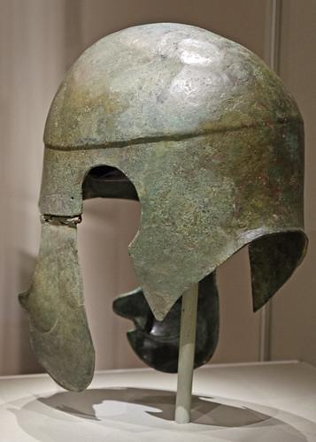 Bronze 'Chalcidian'-type helmet in Cleveland 4