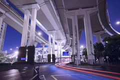 Belly of the Dragon (photogenic planet) Tags: china city urban zeiss highway shanghai sony freeway alpha photogenic photogenicplanet jeffreyottem