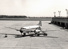 Sabena CV440 OO-SCO at Ringway, summer, mid-1960s probably (Proplinerman) Tags: manchester aircraft 1960s metropolitan airliner 1965 sabena convair ringway propliner convair440 oosco