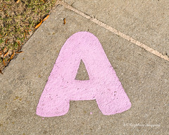 A (augphoto) Tags: a augphotoimagery alphabet concrete letter lettering pink sidewalk greenwood southcarolina unitedstates