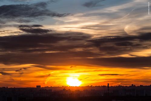 Москва в закате