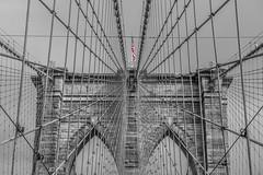 Brooklyn Bridge (JUANJO CAMPA) Tags: bridge bw usa newyork brooklyn puente blackwhite manhattan flag broadway 5thavenue brooklynbridge eastriver avenue nuevayork