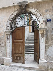 Portal in Pore, Croatia (Paul McClure DC) Tags: architecture croatia historic istria hrvatska istra pore parenzo oct2012