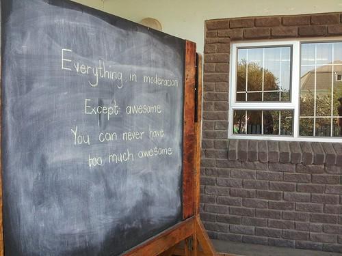Visite d'une école à Walvis Bay, Namibie