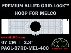 Melco Hoops - 7 cm (2.8 inch) Round Premium Allied Grid-Lock Plastic Embroidery Hoop / Frame for Melco Tubular Embroidery Machines - 400 mm (15.7 inch) Arm Spacing / Sew Field (alliedintl) Tags: hoop logo grid frames monogram embroidery frame hoops gridlock allied melco