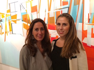 Sisters Renée and Michelle Farina in their art gallery in the Wynwood lofts building during second Saturday Art walk