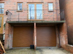 SWS Golden oak roller doors. Hastings January 2015