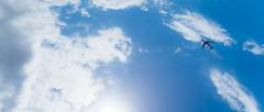 Upside down (sintualex) Tags: clouds plane upsidedown florida miami bluesky clearsky sunnyday lx7