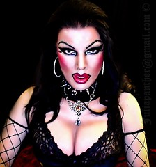 Dark Gotic fetish look in fishnet and lace (Juliapanther Over 25 million views, thanks!!!) Tags: fetish dark costume julia boobs lace dom bra gothic goth dressing sensual tgirl gloves bimbo cleavage mistress panther choker dominatrix dominant juliapanther