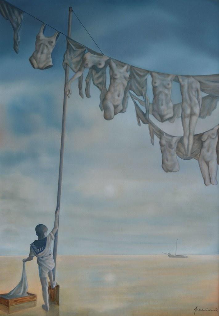 Laundry Day. 2013. Olieverf op doek. 70 x 100 cm.