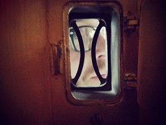 Hey Neighbor! (bobbysnakes) Tags: hello door eye oregon portland friend eyeglasses neighbor peephole