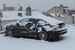 Mercedes Snow (xwattez) Tags: winter snow france car mercedes automobile hiver parking voiture german neige transports toulouse 2015 vhicule carmes allemande