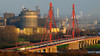 Duisburg - Rheinbrücke / Duisburg - Rhine bridge (Wolfgang's digital photography) Tags: autobahn panasonic nrw brücke duisburg landschaft rhein industrie ruhrgebiet nordrheinwestfalen a40 fz50 ruhrpott rheinbrücke