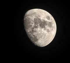 Man in Moon. (Minimoyys) Tags: moon france night french nikon sigma rhne nuit rhnealpes sathonayvillage d7000