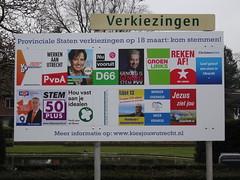 Election Posters in Zeist (harry_nl) Tags: netherlands poster utrecht nederland parties elections province zeist verkiezingen 2015 provincie partijen