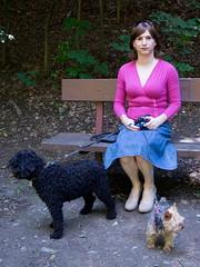 Afternoon walk (blackietv) Tags: pink blue outside outdoor skirt crossdressing tgirl transgender transvestite denim casual crossdresser