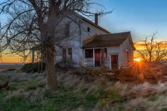 """Watch Lights Fade From Every Room . . . "" (garshna) Tags: abandoned sunset house sky neglected tree"