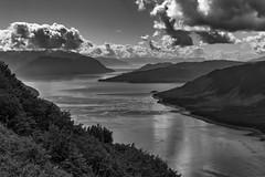 Looking south (Bob Kirschke) Tags: sky alaska islands us blackwhite unitedstates monotone glacier juneau fairbanks