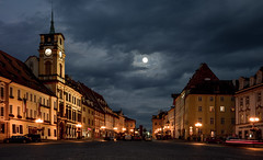 Moon over Town Square