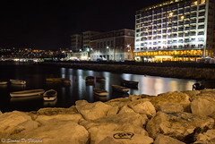 Naples (simone.defilippis) Tags: naples night italia boats lungomare