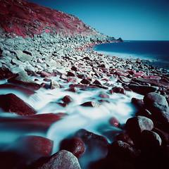 Lamorna Cove (Mark Rowell) Tags: uk 120 6x6 film mediumformat ir cornwall kodak hasselblad infrared expired lamorna swc 903 eir aerochrome