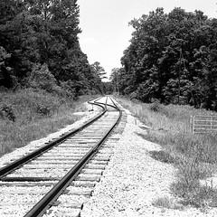 Shelby County, Alabama. (RickC.) Tags: alabama railroad agfa isolette neopan south shelby bw 120 6x6 folding